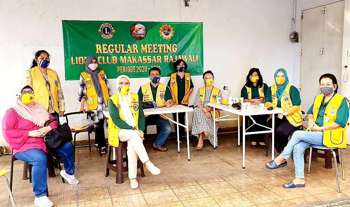Gelar Reguler Meeting, Lions Club Makassar Rajawali Bahas Program Kerja 2020-2021